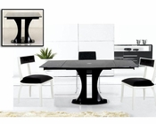Contemporary Style Black Dining Set 44D2331XT-SET