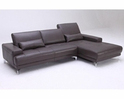 Contemporary Style Full Leather Sectional Sofa 44L1329-M