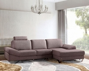 Contemporary Style Grey Fabric Sectional Sofa 44L6077