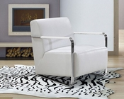 Contemporary Style Leather Lounge Chair 44LG729