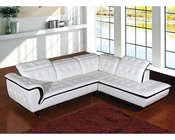 Contemporary Style Leather Sectional Sofa 44L6023