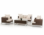 Contemporary Style Outdoor Sofa Set 44P321-SET