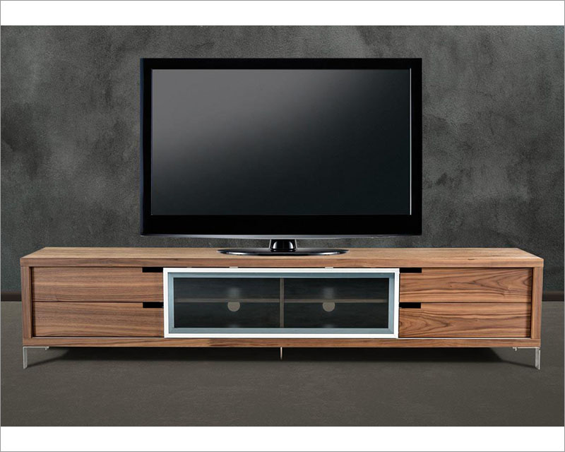 Contemporary Style Walnut TV Stand 44ENT03 WAL
