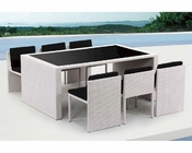 Contemporary Table and Six Chair Patio Dining Set 44P108-SET