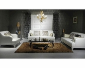 Contemporary Tufted Leather Sofa Set 44L6103