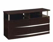 Contemporary TV Console Agata in Wenge Finish 35B68