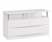 Contemporary TV Console Agata in White 35B58