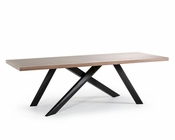 Contemporary Walnut and Wenge Dining Table 44D1108-WAL