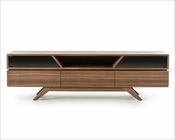 Contemporary Walnut TV Stand 44ENT1101F