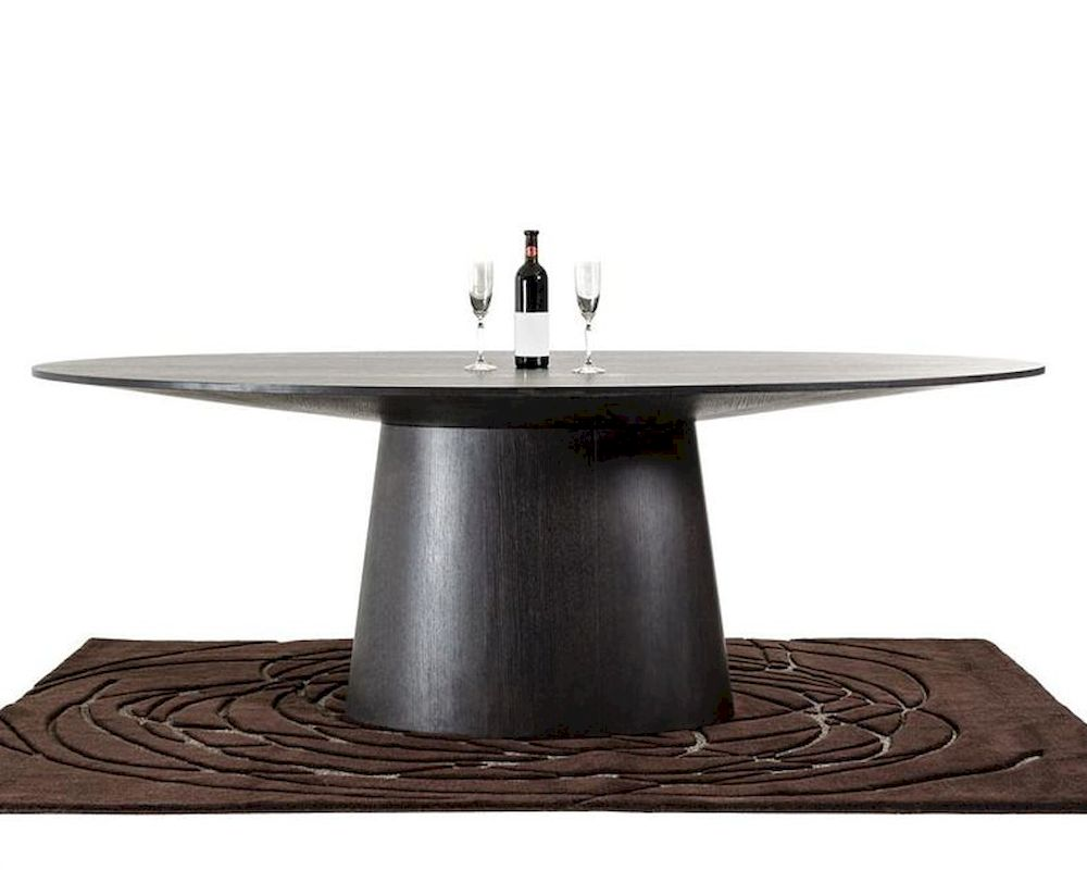 Contemporary Wenge Oval Dining Table 44D510WNG