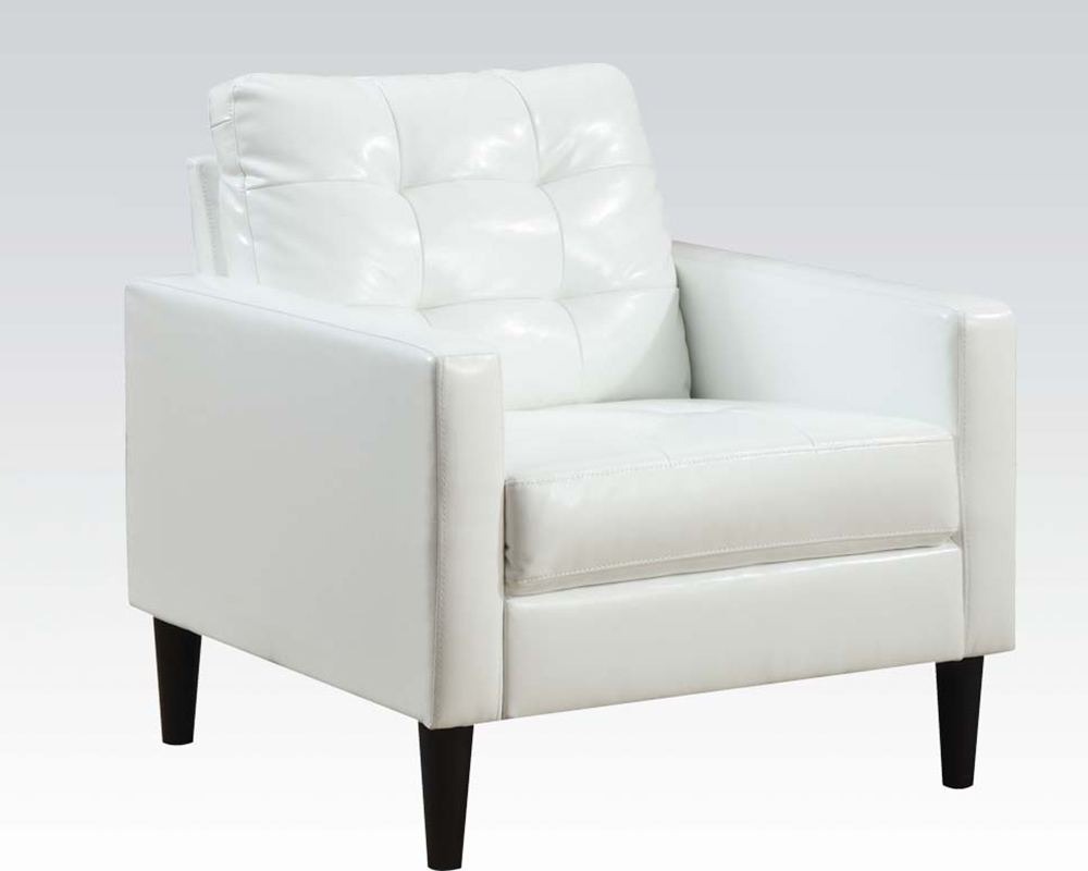 white accent chair white accent chair by acme furniture ac59048