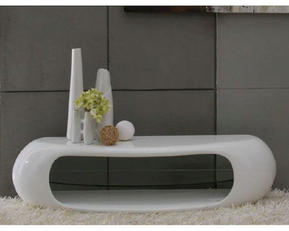 Contemporary White High Gloss Tv Stand 44ent1162