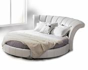 Contemporary White Round Bed 44B210BD