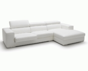 Contemporaty Style White Leather Sectional Sofa 44L6091