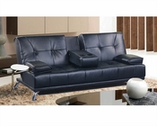 Convertible Sofa in Black Finish MF-310