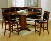 Counter Height Corner Dining Set in Dark Brown - CO-101791s