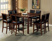 Counter Height Dining Room Set in Walnut - Coaster CO-101838s