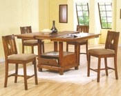 Counter Height Dining Set in Rustic Oak Finish AN-655