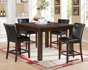 Counter Height Set Easton in Brown Cherry by Acme AC71145SET