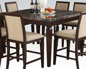 Counter Height Set w/ Black Marble Top Table Agatha by Acme AC72485SET