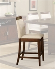 Counter Height Wood Rail Chair by Homelegance EL-1410-24S1 (Set of 2)