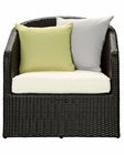 Cozy Indoor-Outdoor  Wicker Rattan Armchair by Modway MY-EEI968EXPWHI