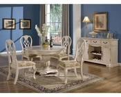 Cream Dining Set w/ 48in Round Table MCFD9301-R