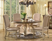 Cream Finish Dining Set w/ Round Table by MCF Furnishings MCFD9801-R