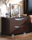 Dark Brown Night Stand Marta Contemporary Style Made in Spain 33B293