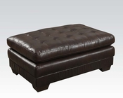 Dark Brown Ottoman Nigel by Acme Furniture AC50772