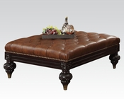 Dark Brown Oversize Ottoman Shantoria by Acme Furniture AC51319