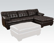 Dark Brown Sectional Sofa Nigel by Acme Furniture AC50770