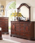Dark Cherry Dresser w/ Mirror Estrella by Acme Furniture AC20735DM