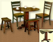 Dark Chocolate Finish Dinette Set SU-1233DCs