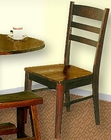 Dark Chocolate Ladderback Dining Side Chair SU-1616DC (Set of 2)