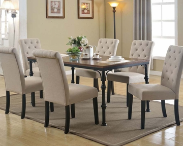 dark oak dining set vriel by acme furniture ac71580set amazing dark oak dining
