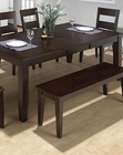 Dark Rustic Prairie Dining Table JO-972-78
