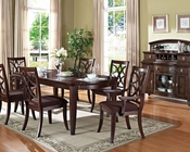 Dark Walnut Dining Set Keenan by Acme Furniture AC60255SET