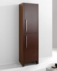 Delano Walnut 16in Modern Side Cabinet by Virtu USA VU-WAC-261-WA