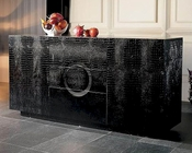 Diamante Modern Black Crocodile Texture Buffet 44DAA615-150B