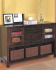 Dickson Console Table with Basket Storage CO950153