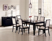 Dining Room Set in Distressed Black - Coaster CO-101561s