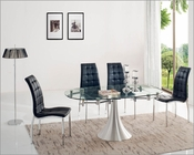 Dining Room Set w/ Glass Top Table 33-T017SET