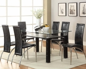 Dining Set Clear Glass Table Toffy by Acme Furniture AC70722SET