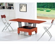 Dining Set in Cherry Finish European Design 33D331