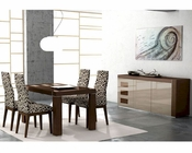 Dining Set Inez in Cappuccino European Design Made in Spain 33D131