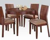 Dining Set w/ 42in Round Table Mauro by Acme AC70542SET