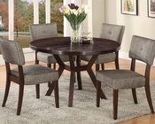 Dining Set w/ 48in Dia. Table Drake by Acme AC16250SET