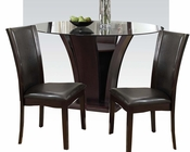 Dining Set w/ 54in Round Table Malik by Acme Furniture AC70500SET