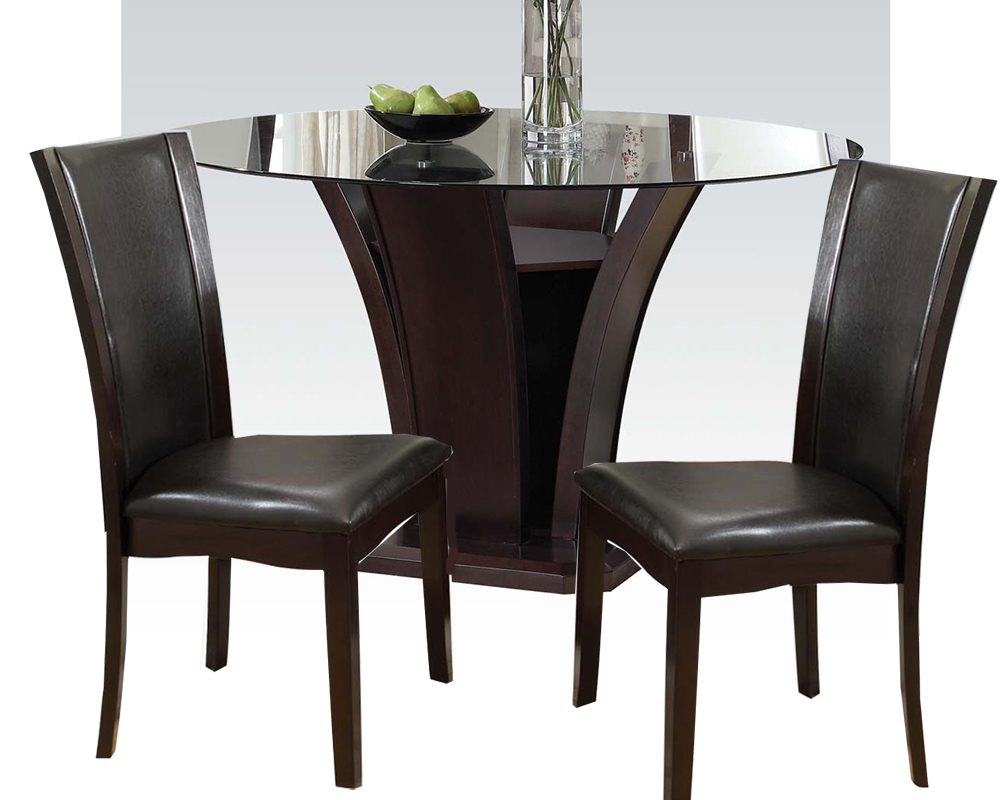 dining set w 54in round table malik by acme furniture ac70500set